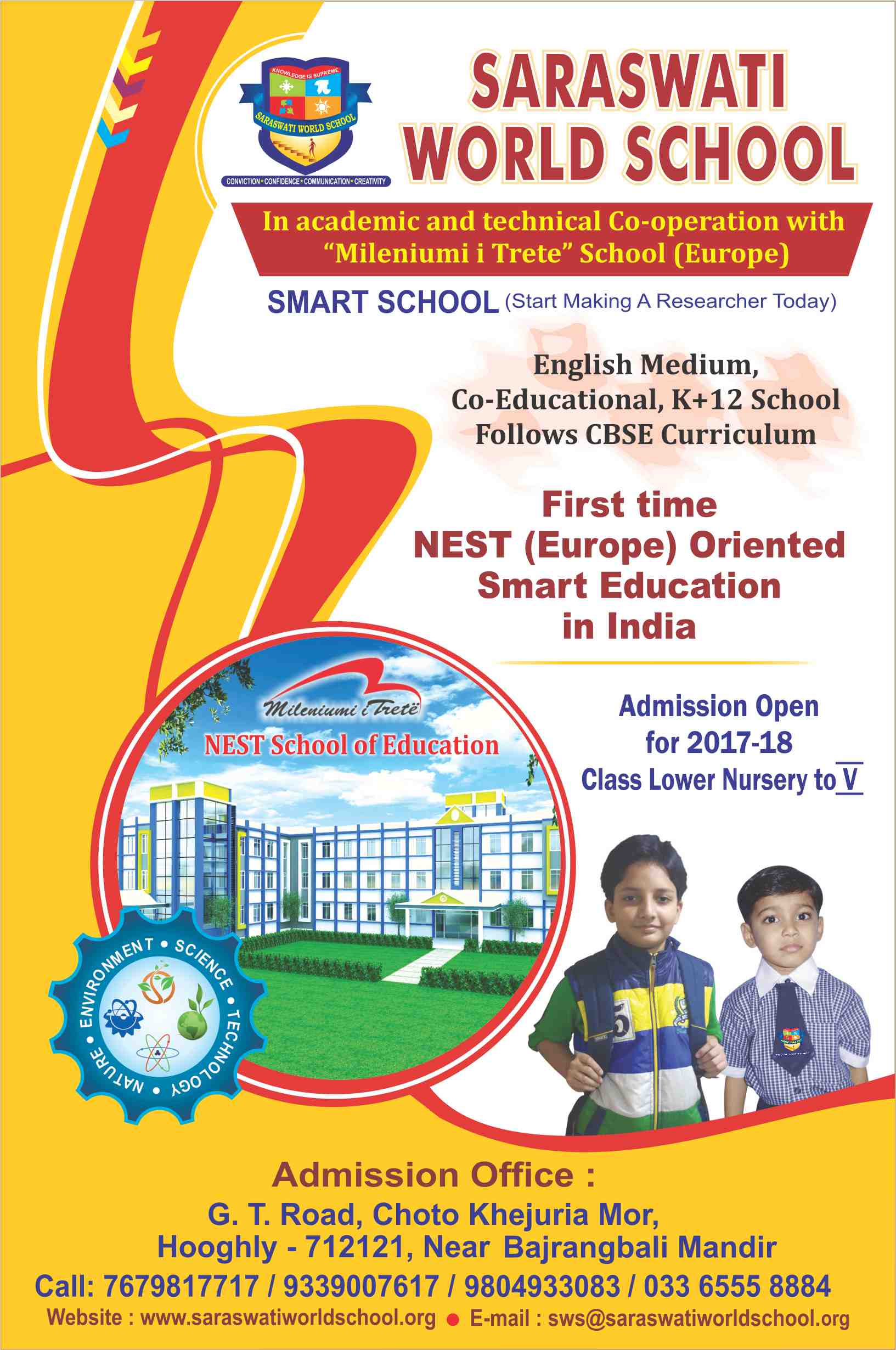 sws-flyer « Saraswati World School