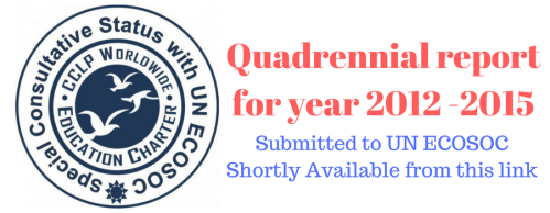 Quadrennial report for year 2012 -2015